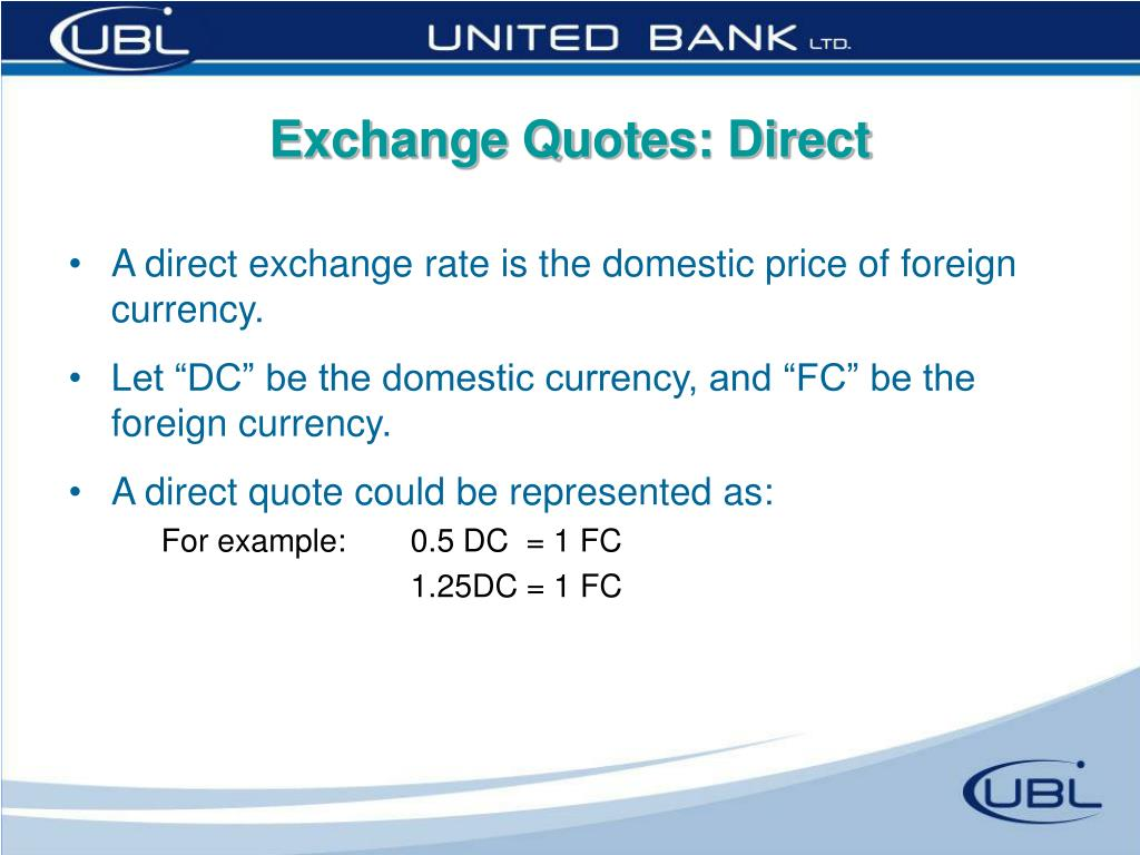 Exchange Quotes: Direct