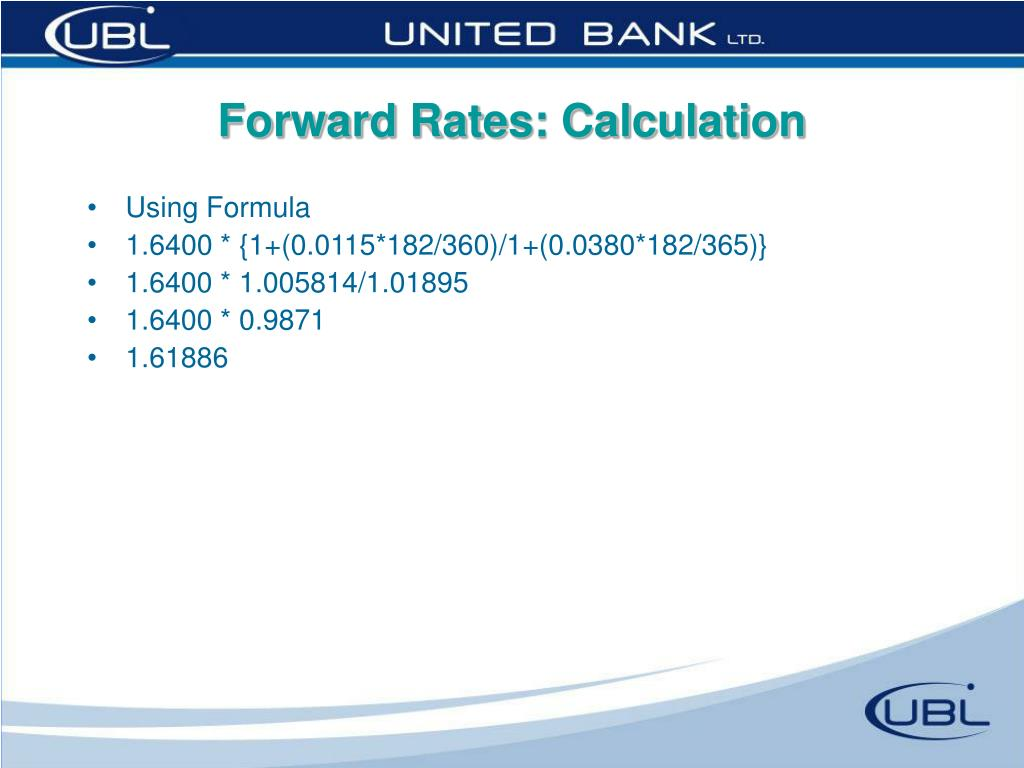Forward Rates: Calculation
