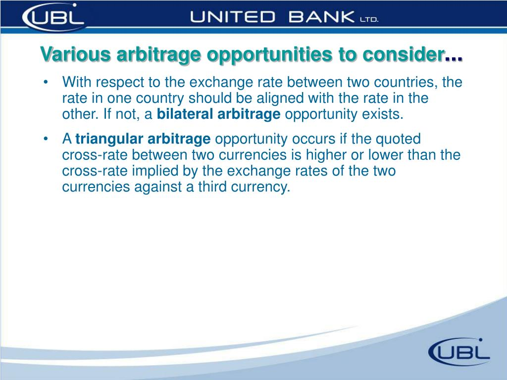 Various arbitrage opportunities to consider
