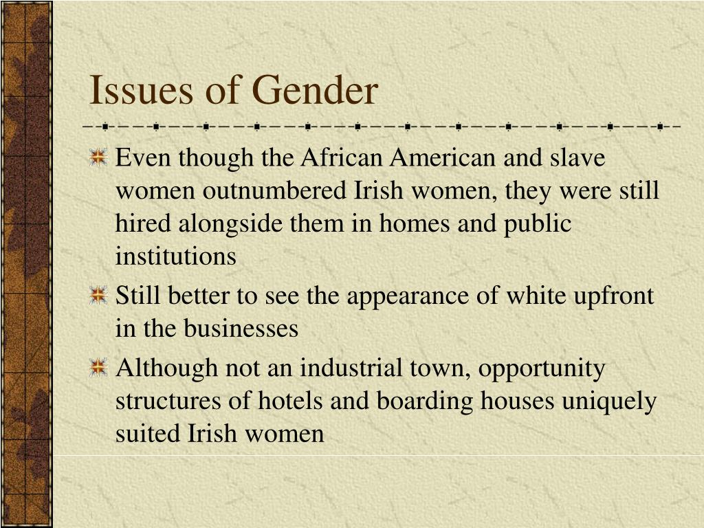 Issues of Gender