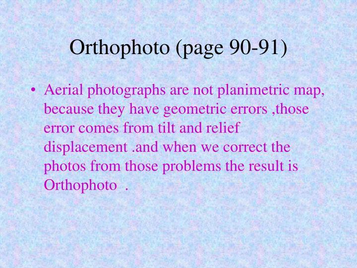 Orthophoto (page 90-91)