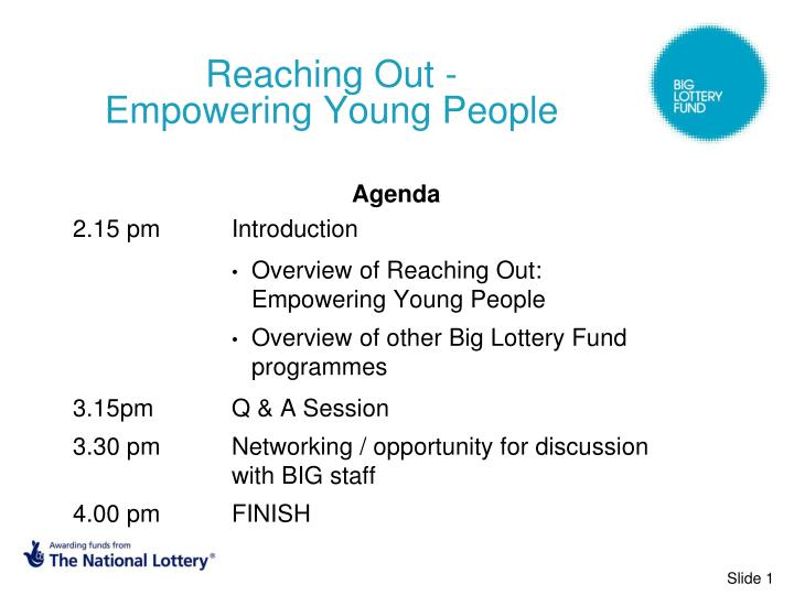Reaching out empowering young people l.jpg