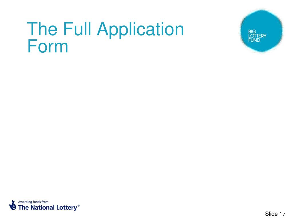 The Full Application Form