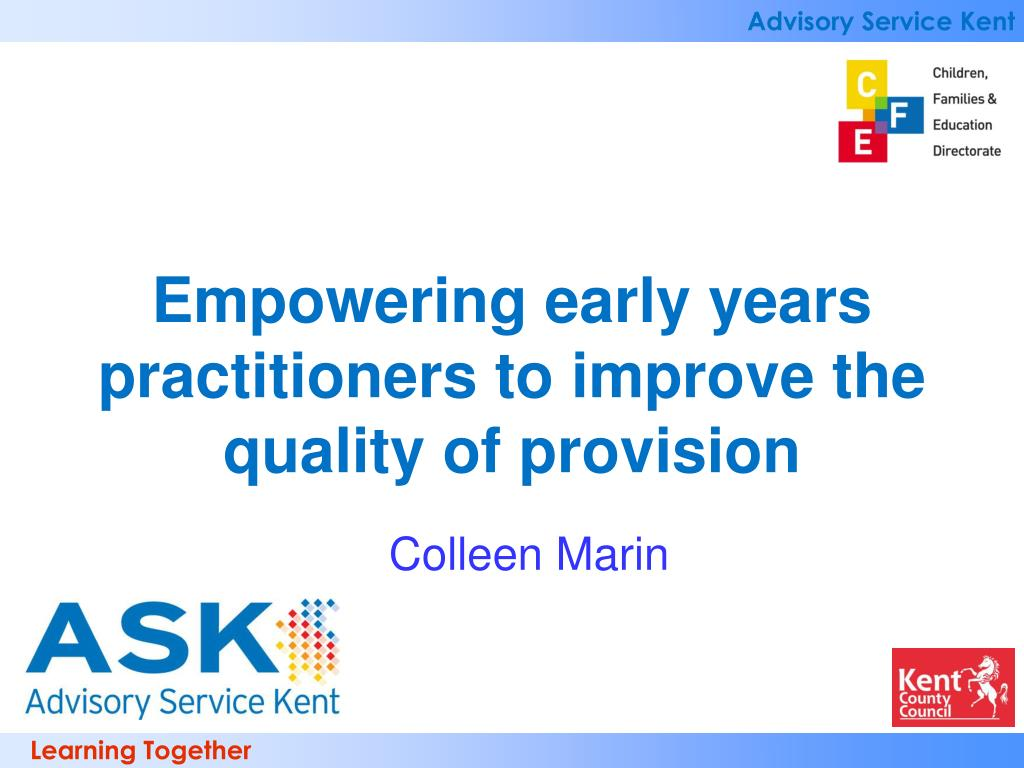 Empowering early years practitioners to improve the quality of provision
