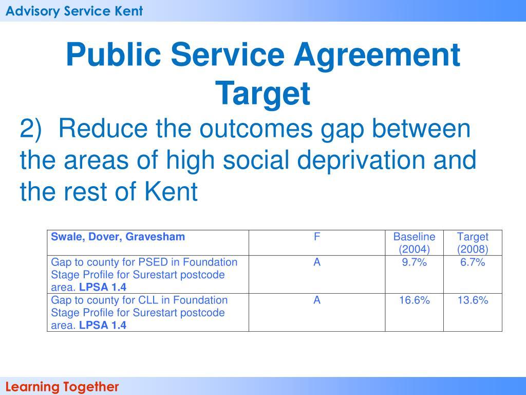 Public Service Agreement Target