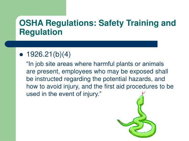OSHA Regulations: Safety Training and Regulation