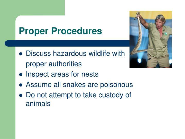 Proper Procedures