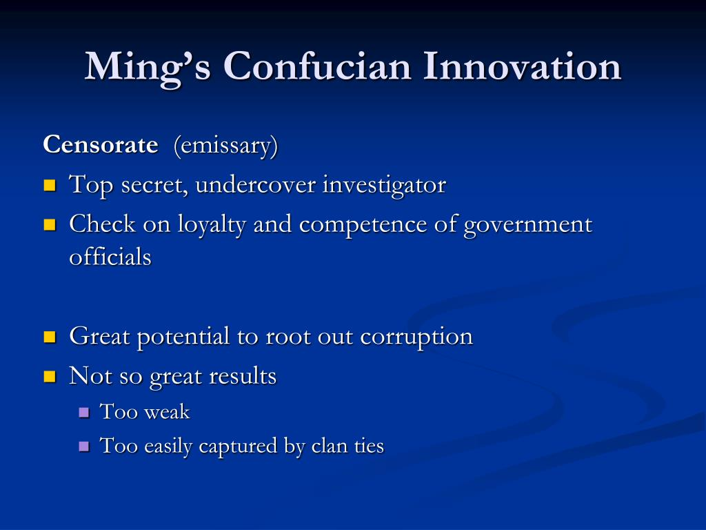 Ming's Confucian Innovation