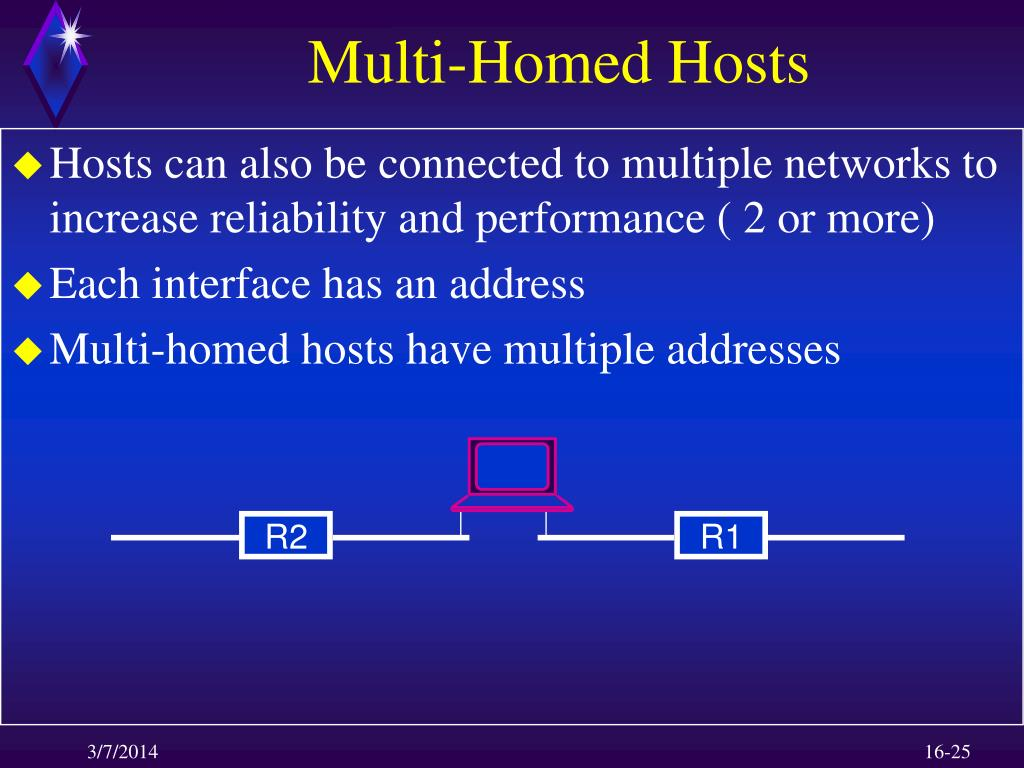 Multi-Homed Hosts