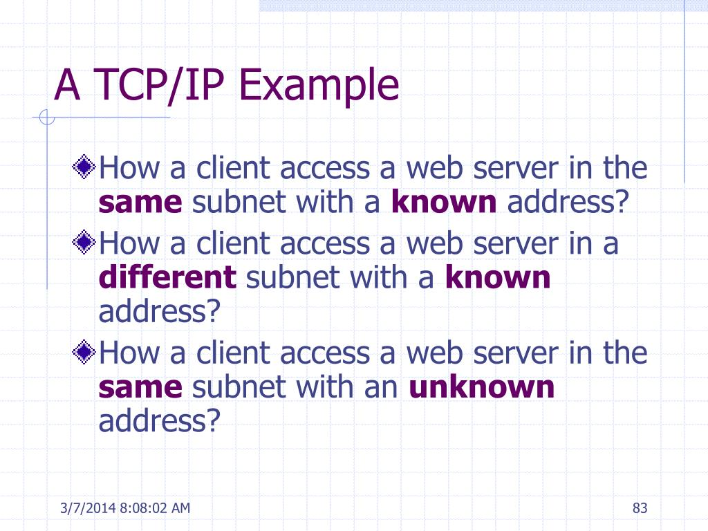 A TCP/IP Example