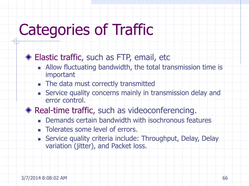 Categories of Traffic