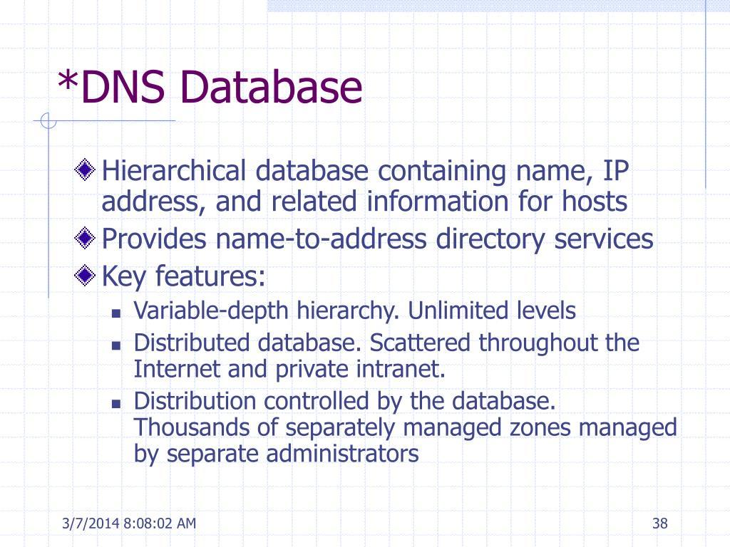 *DNS Database