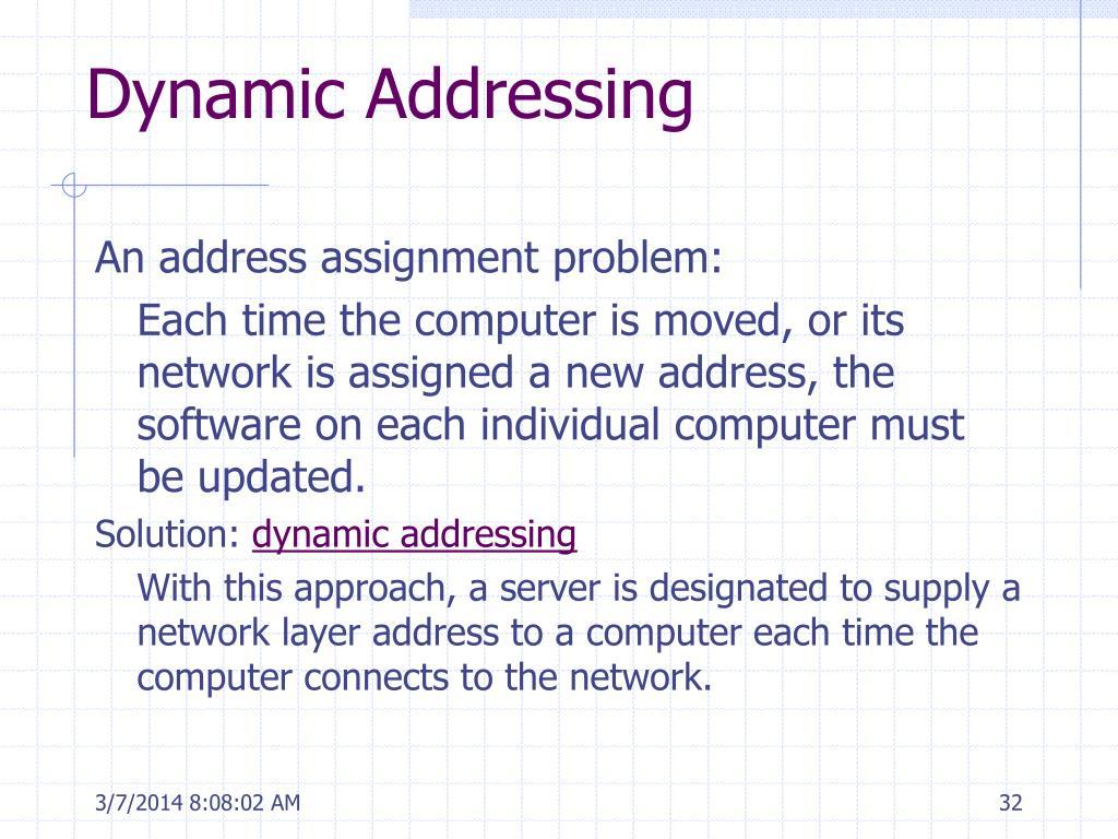 Dynamic Addressing