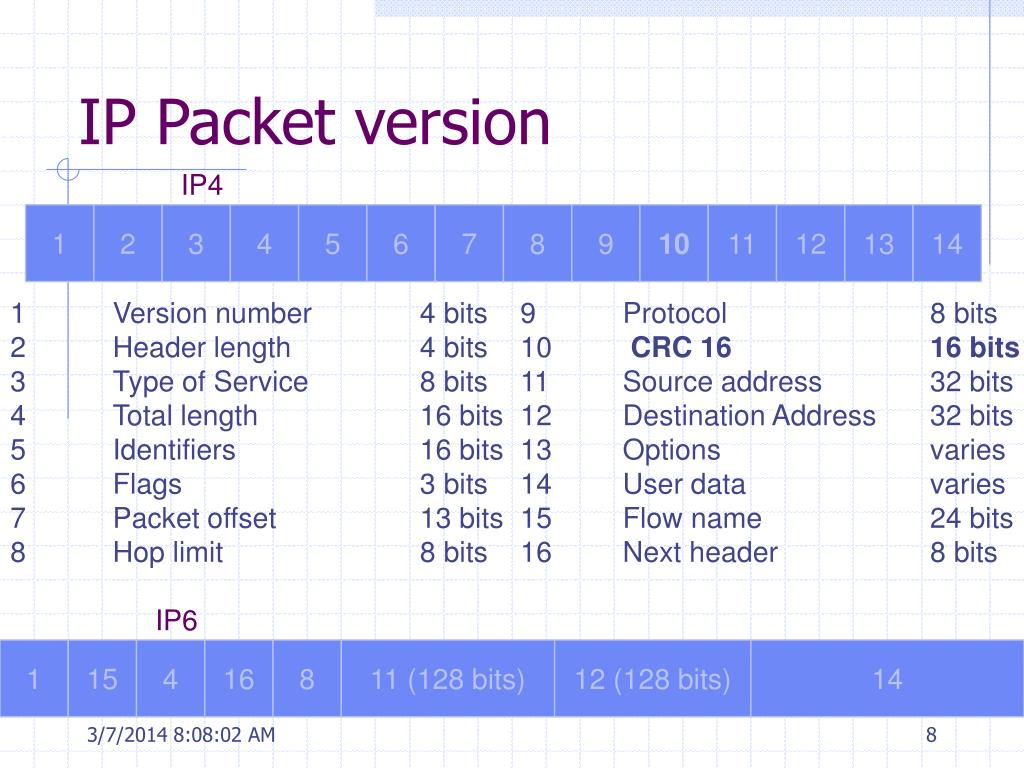 IP Packet version