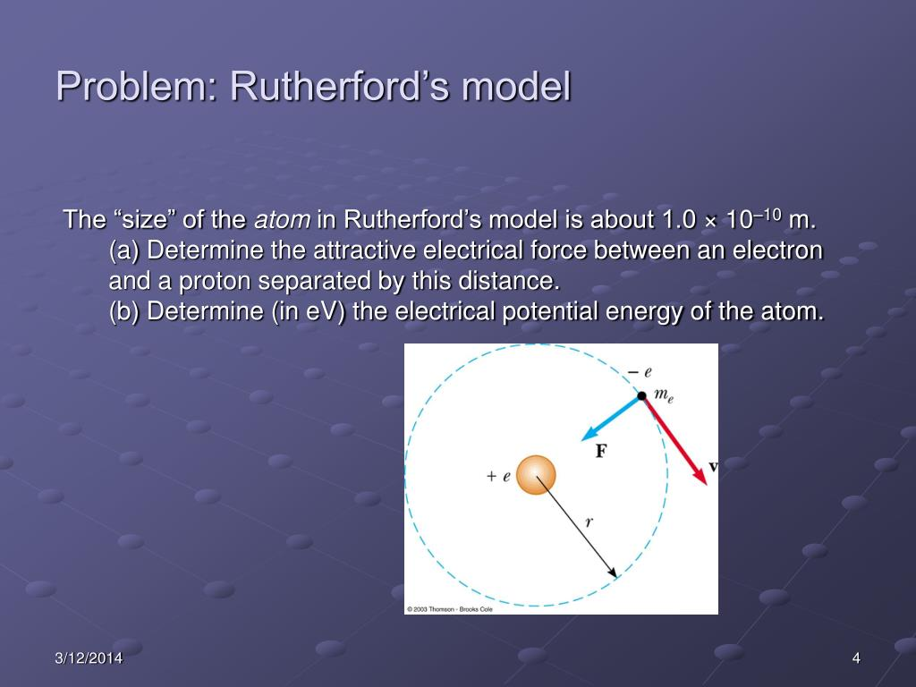 Problem: Rutherford's model