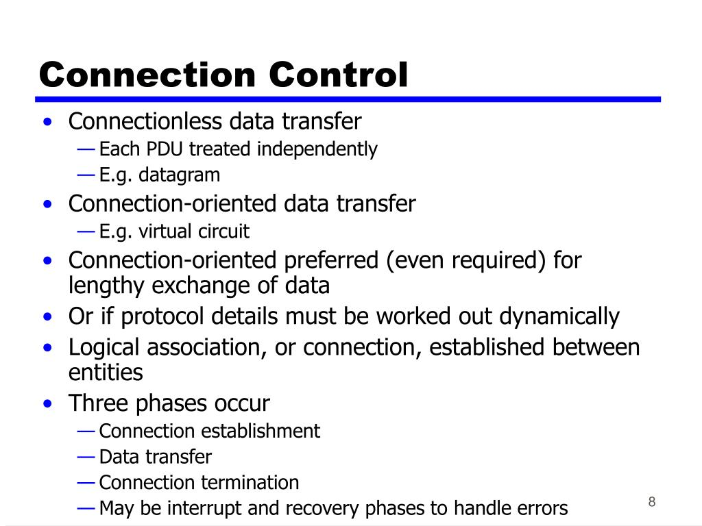 Connection Control