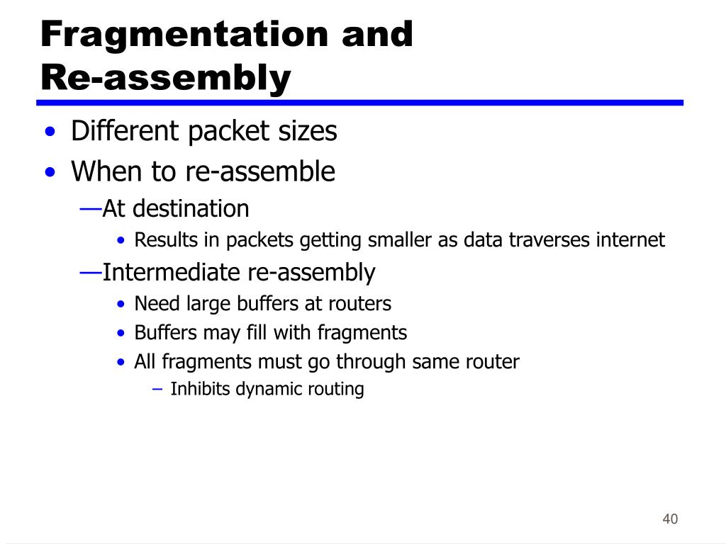 Fragmentation and