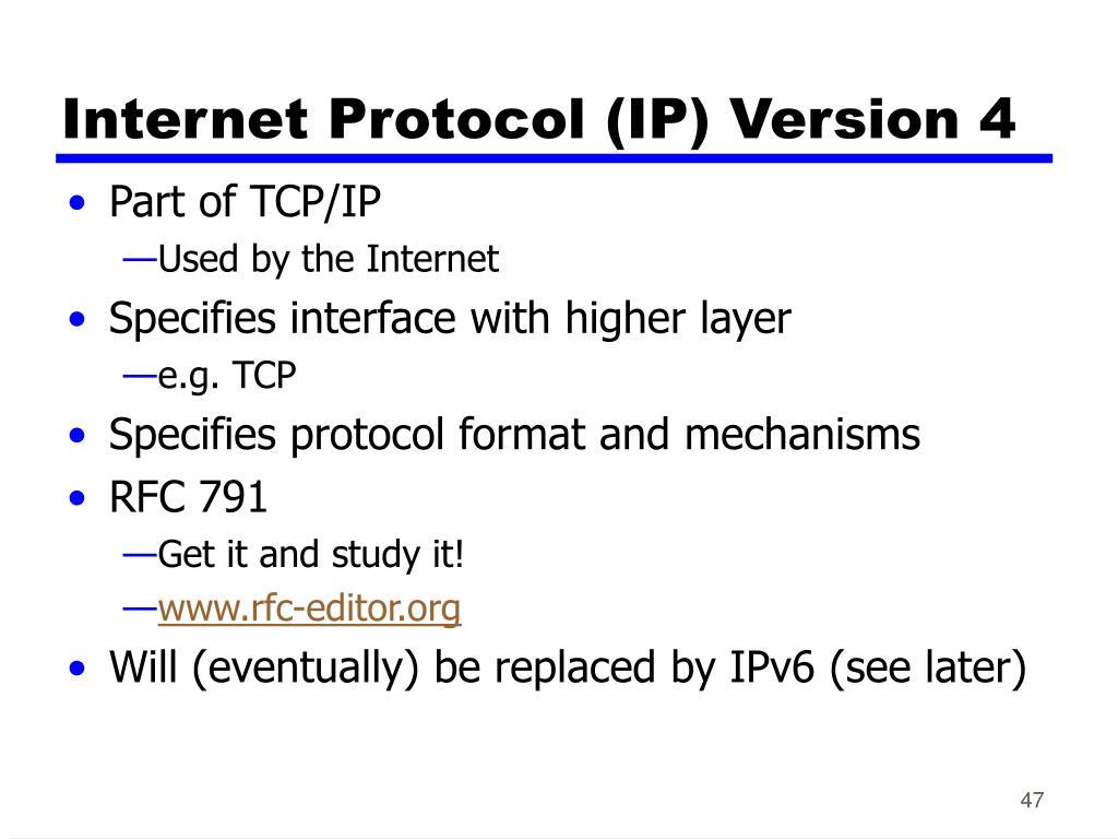 Internet Protocol (IP)