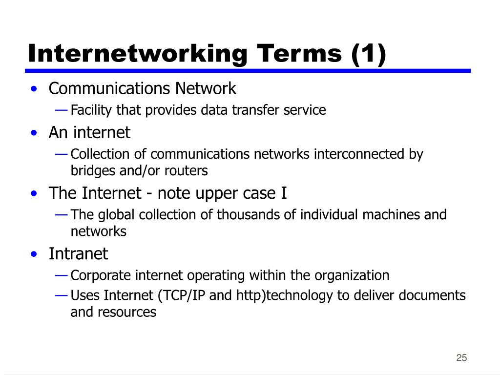 Internetworking Terms (1)