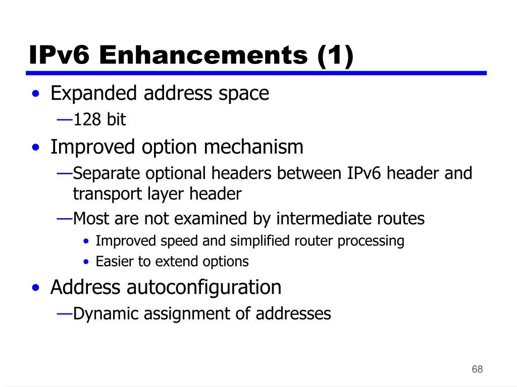 IPv6 Enhancements (