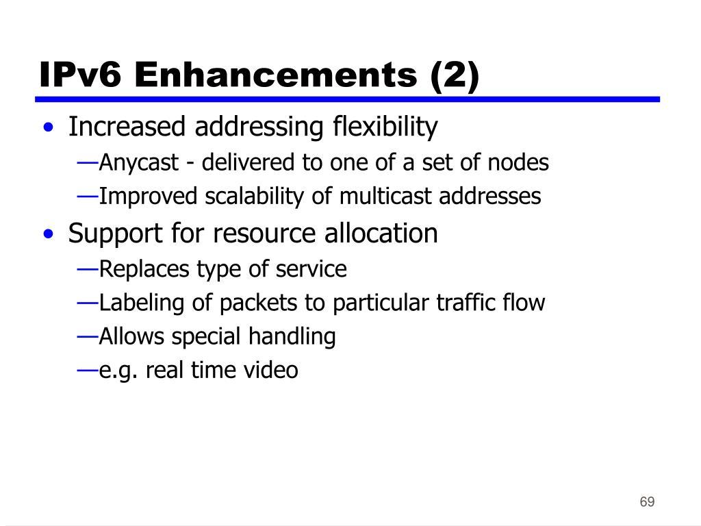IPv6 Enhancements (2)