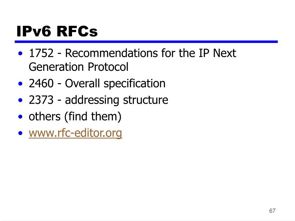 IPv6 RFCs