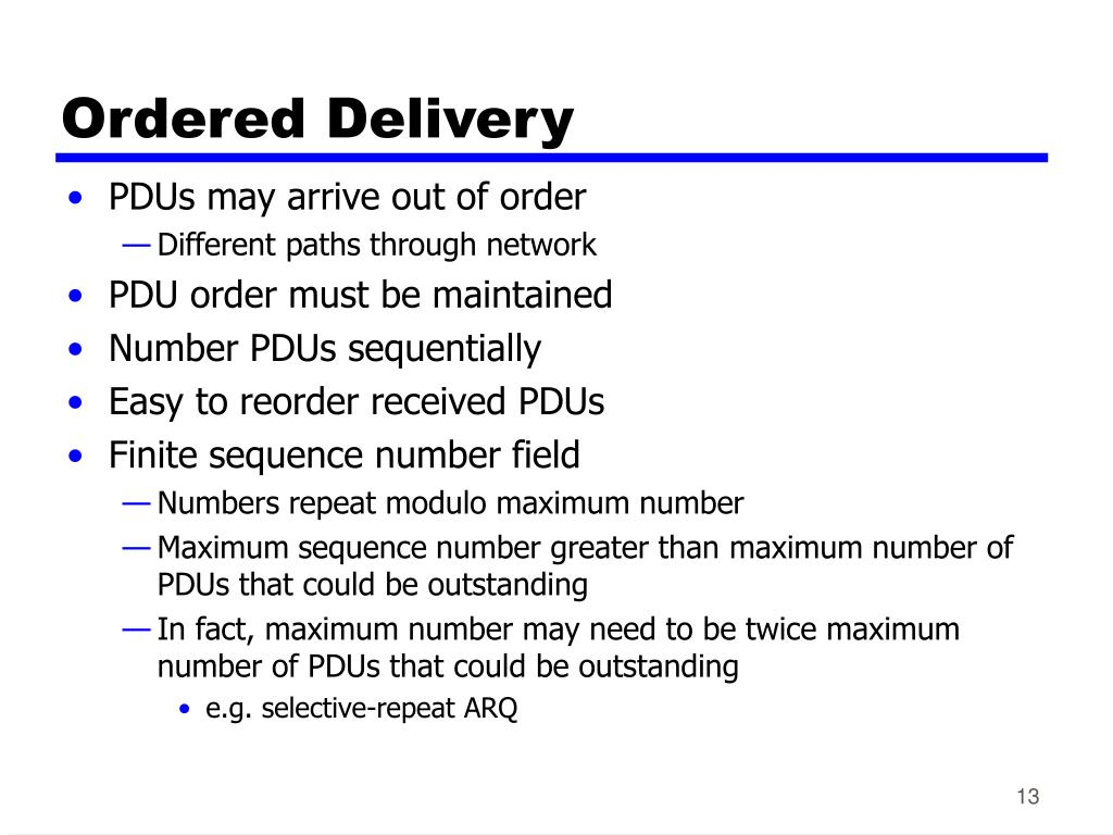Ordered Delivery