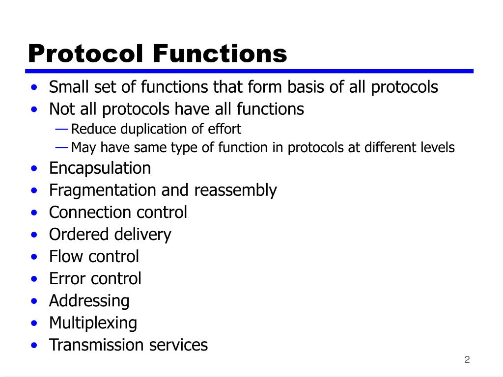 Protocol Functions