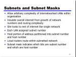 subnets and subnet masks