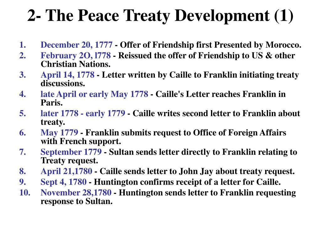 2- The Peace Treaty Development (1)