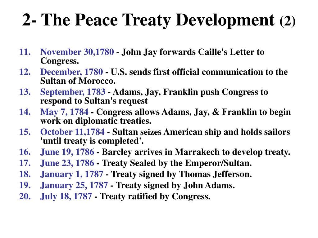 2- The Peace Treaty Development