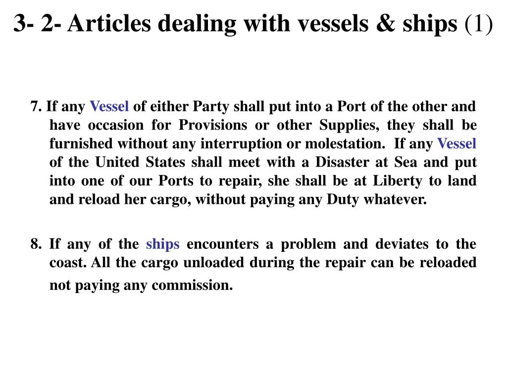 3- 2- Articles dealing with vessels & ships