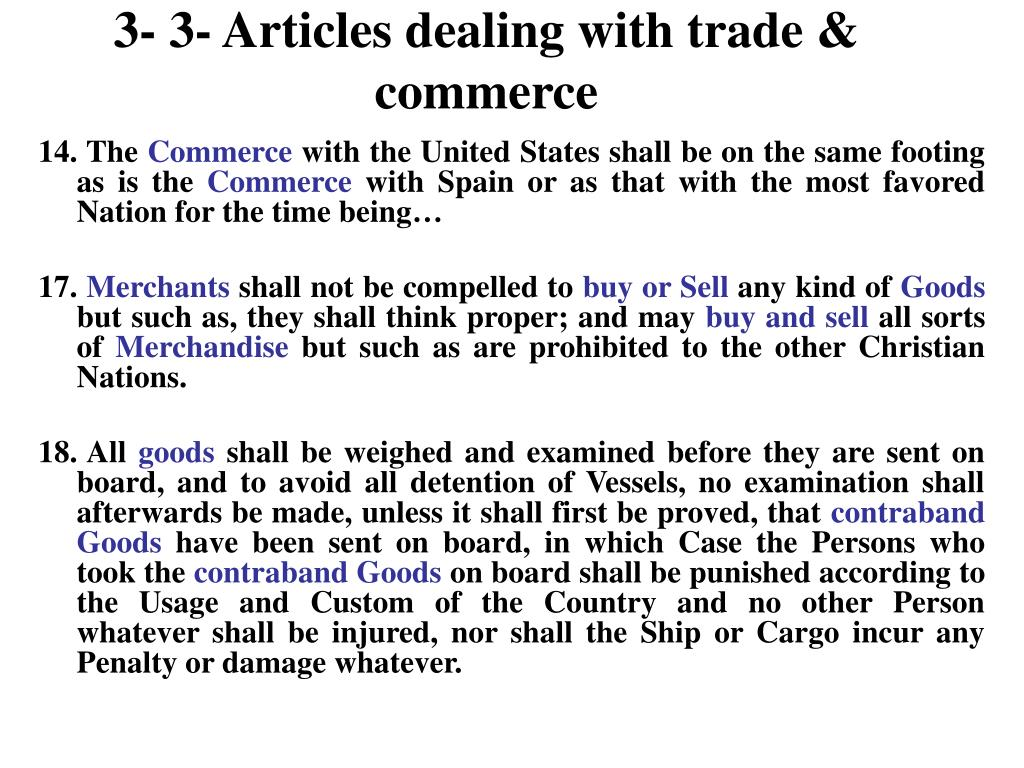 3- 3- Articles dealing with trade & commerce