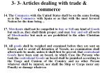 3 3 articles dealing with trade commerce