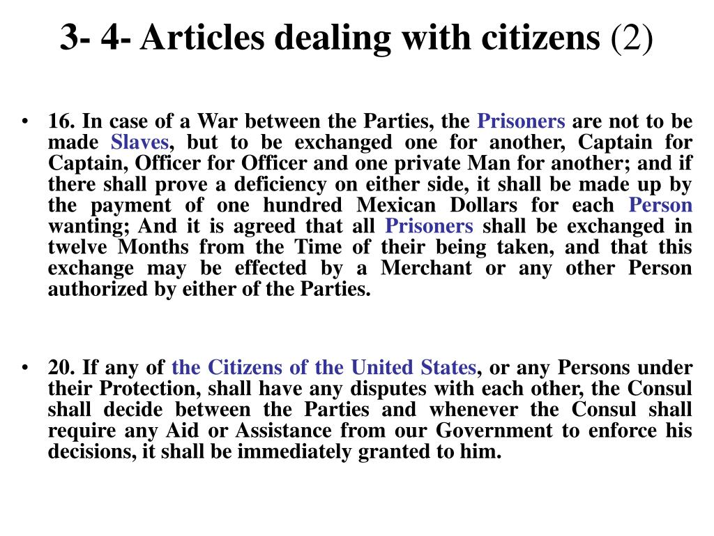 3- 4- Articles dealing with citizens