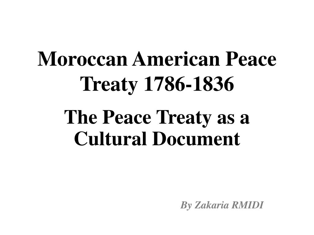 moroccan american peace treaty 1786 1836