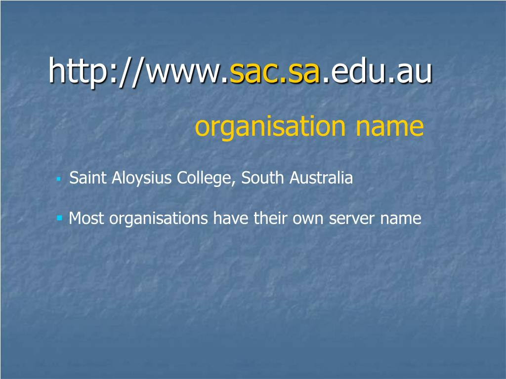 organisation name