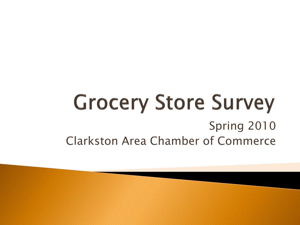 Grocery Store Survey