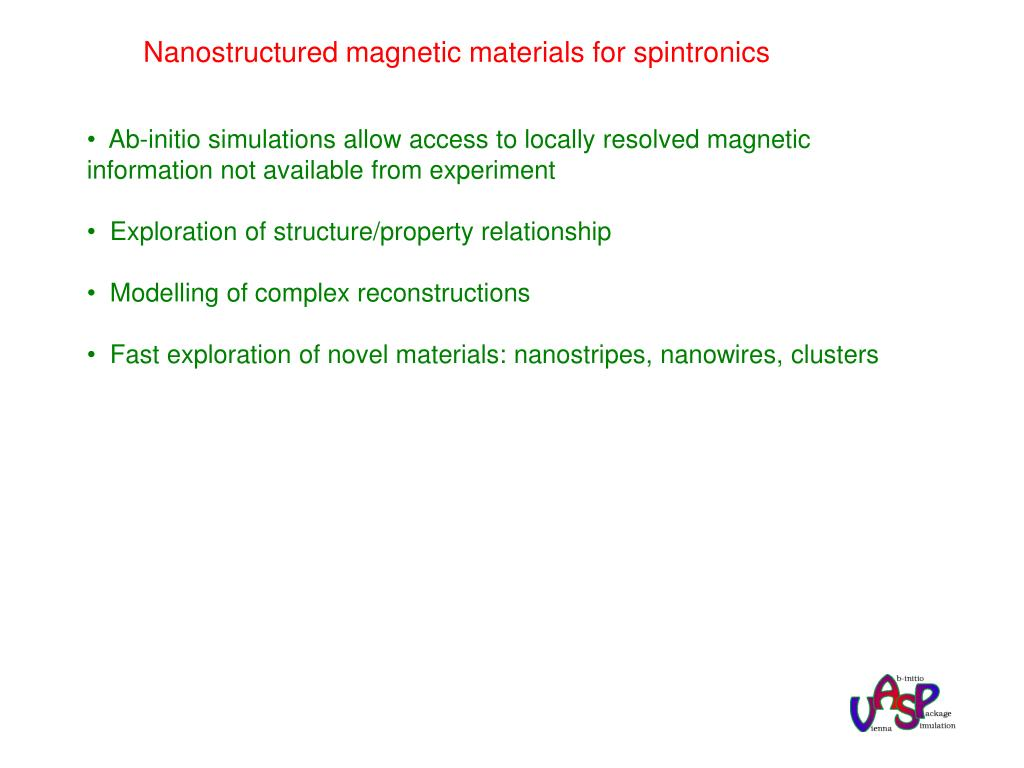 Nanostructured magnetic materials for spintronics