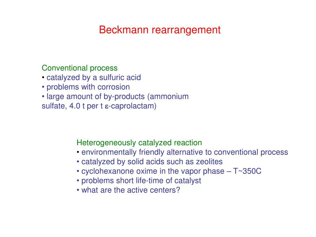 Beckmann rearrangement