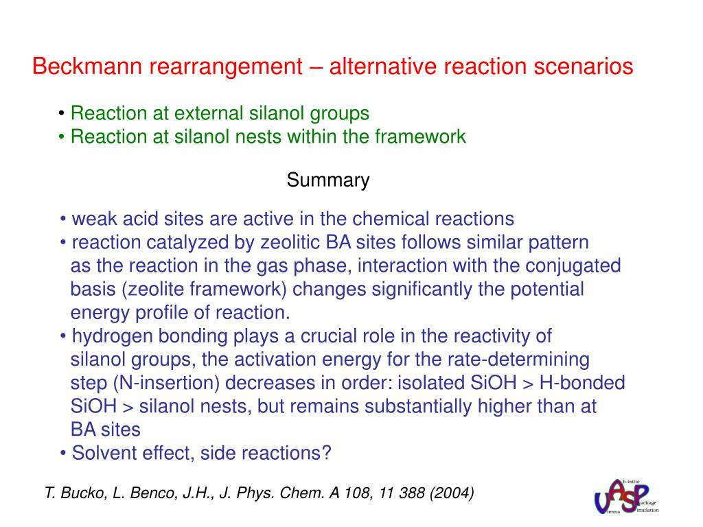 Beckmann rearrangement – alternative reaction scenarios