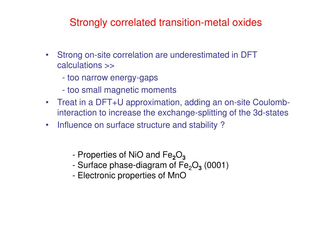 Strongly correlated transition-metal oxides