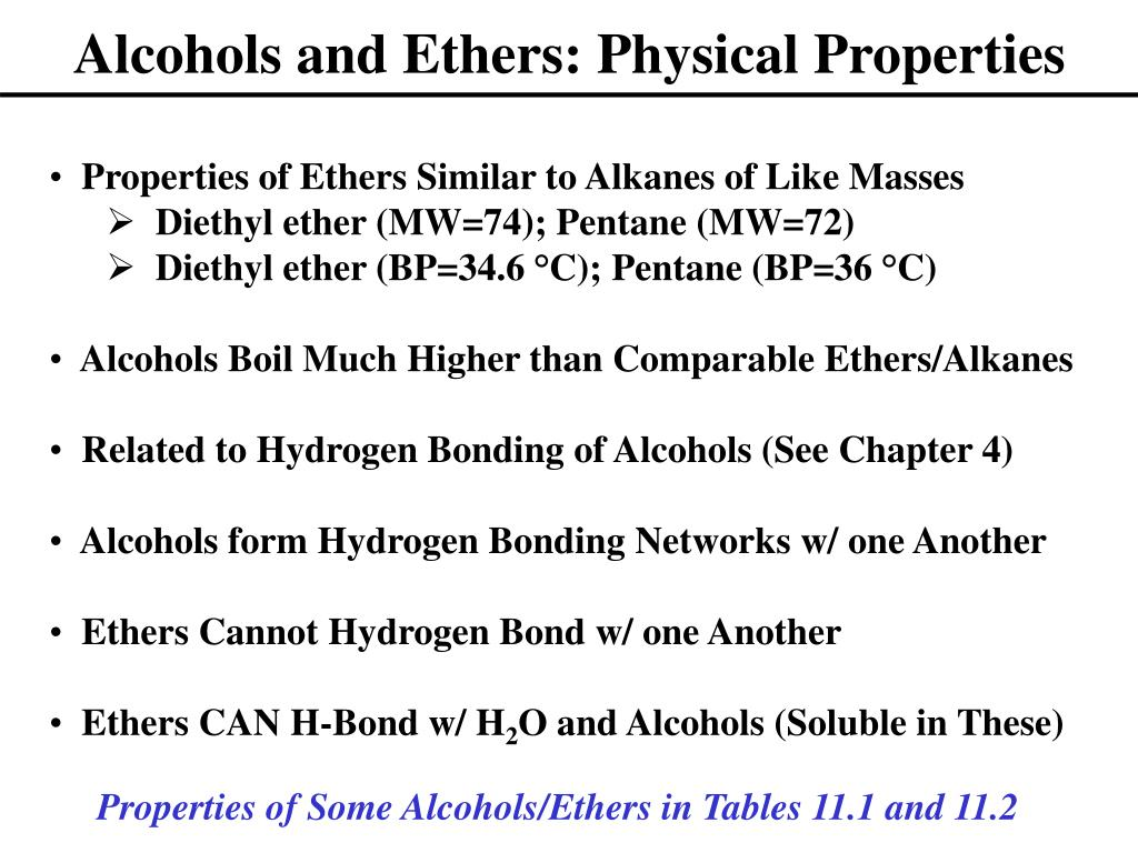 physical properties of alcohol pdf