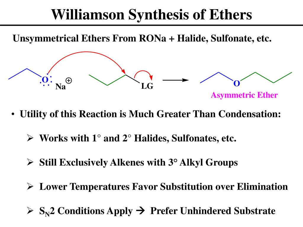 williamsons ether synthesis Synthesis of ethers name reactions williamson synthesis reactions reductive etherification  boronate esters and alcohols allows the synthesis of enol ethers in.
