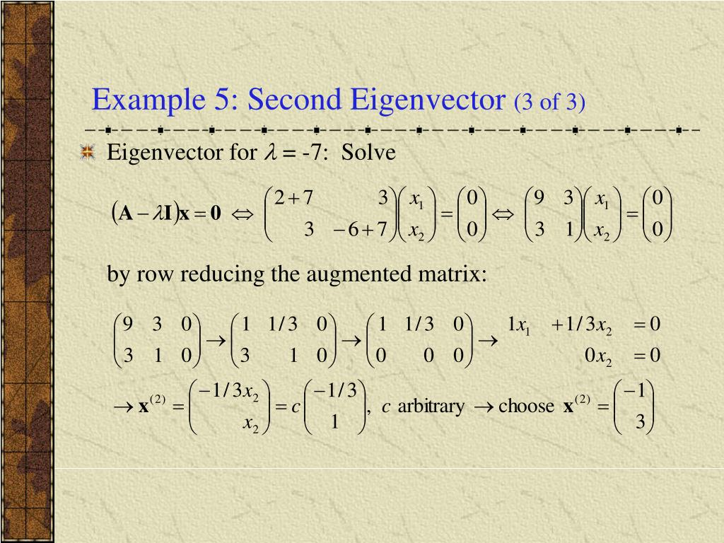how to find second eigenvector