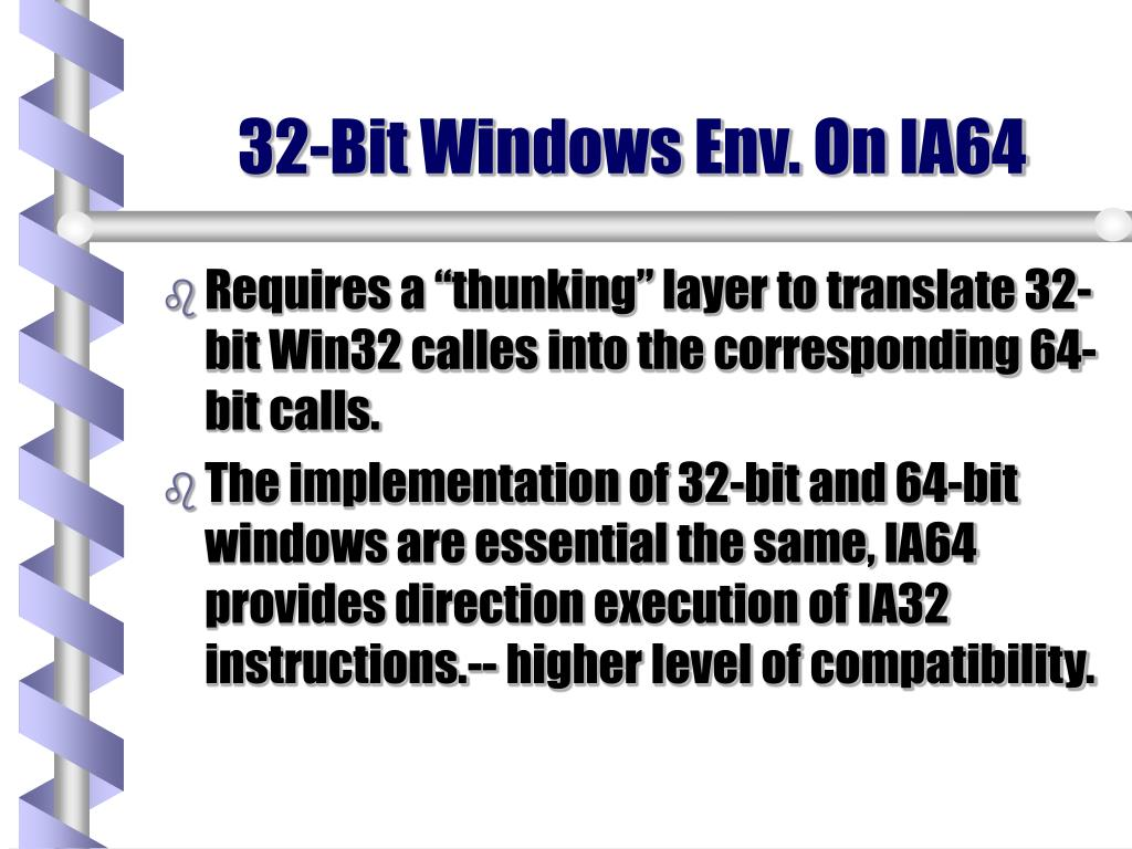 32-Bit Windows Env. On IA64