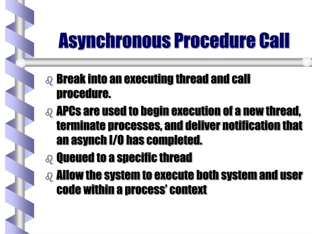 Asynchronous Procedure Call