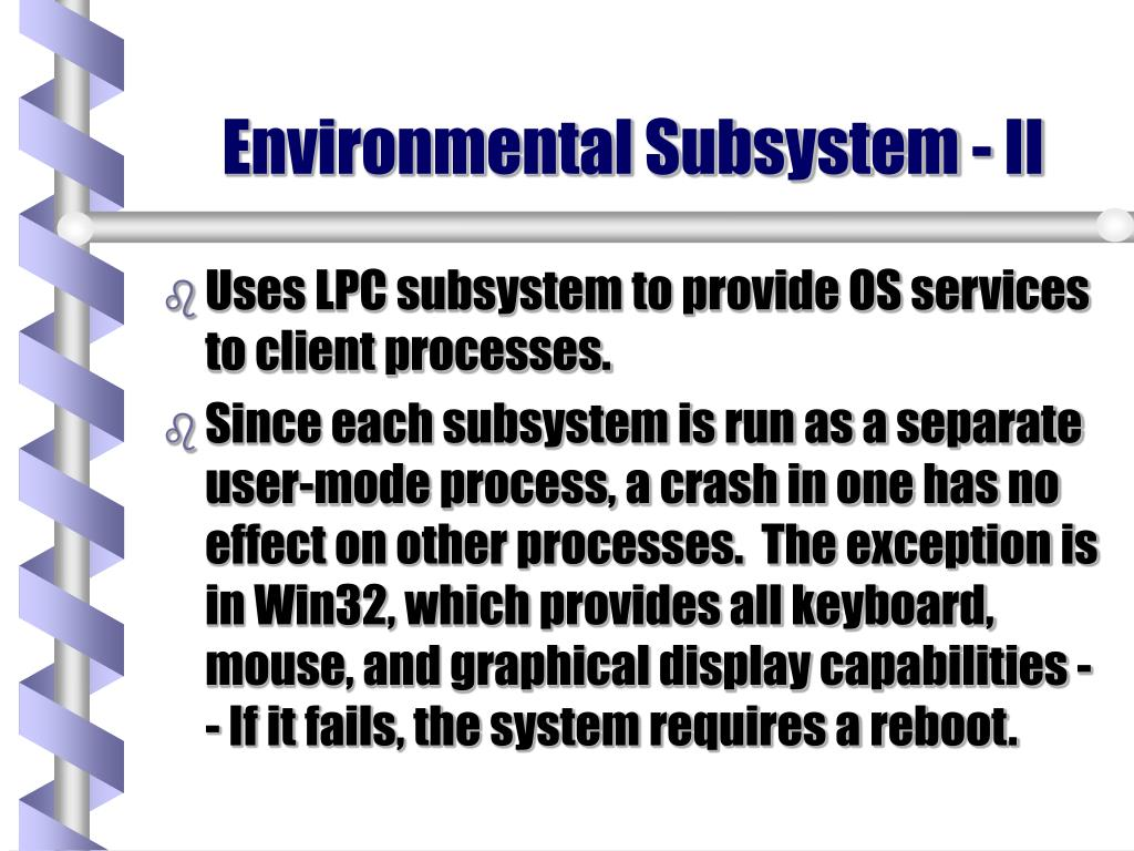 Environmental Subsystem - II