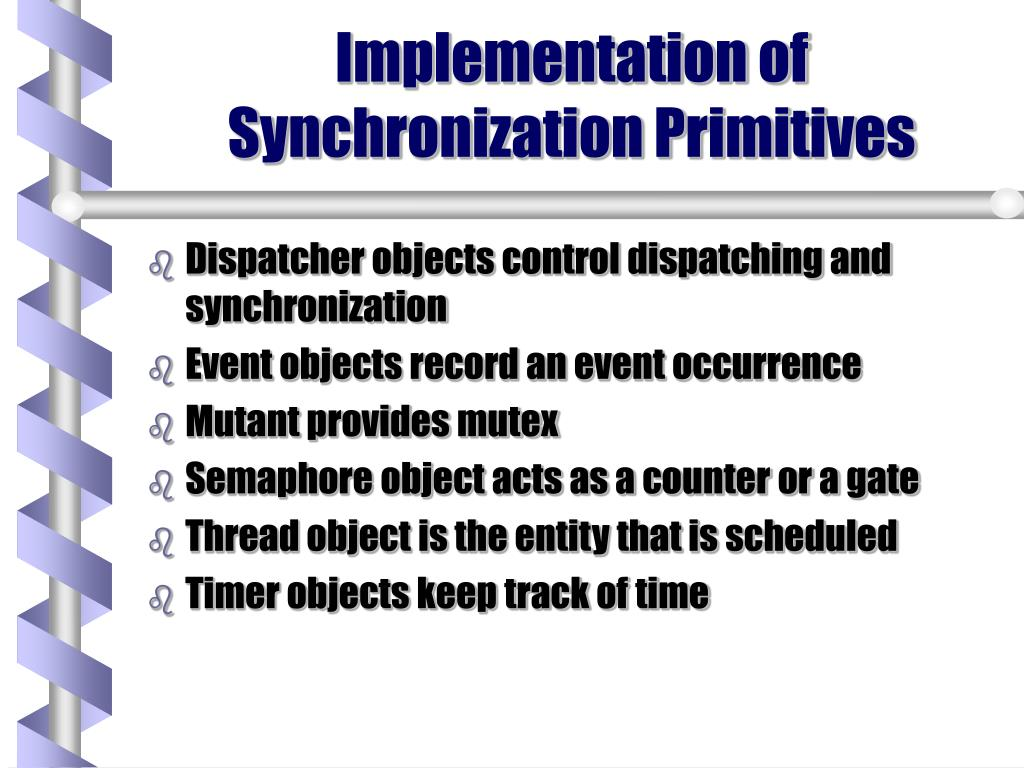 Implementation of Synchronization Primitives