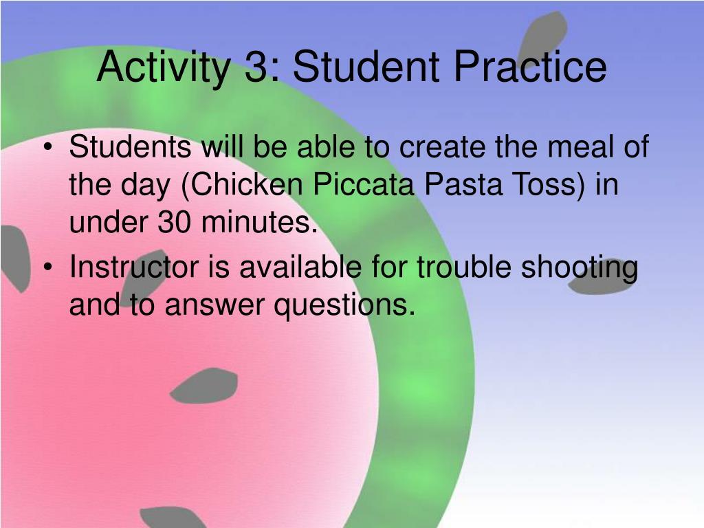Activity 3: Student Practice